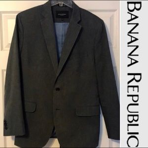 EUC-BANANA REPUBLIC 100% cotton tailored blazer